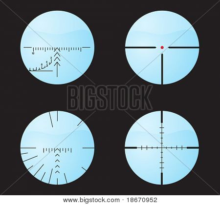 Set of sniper sights