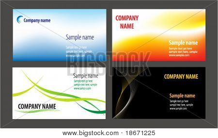 Business cards templates collection