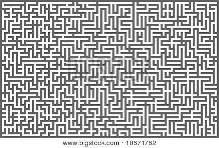 Grey maze background. Vector illustration.