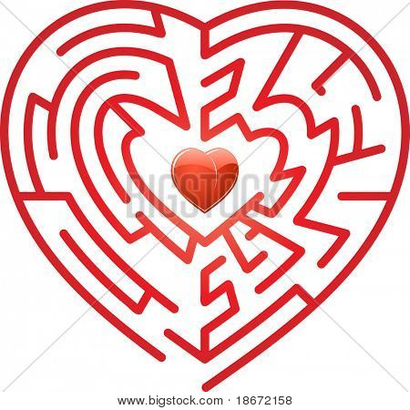 Maze whits heart