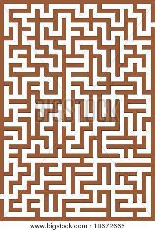 Brown labyrinth