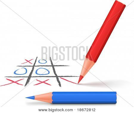 Tic-tac-toe game. Vector illustration.