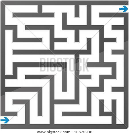 Small gray maze. Vector illustration.