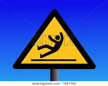 Slippery Floor Sign
