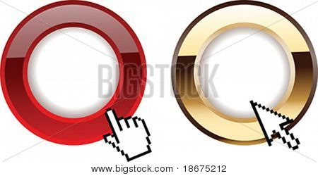 Red Gold Glow Rings And Computer Cursors