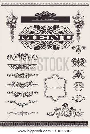 Design Ornate Elements And Page Decoration.