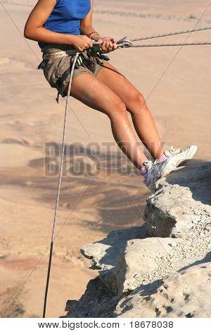 Climber in the Desert