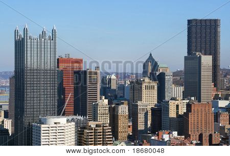Pittsburgh's skyline from Mount Washington