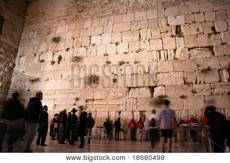 The Wailing Wall, Kotal(western wall)at Night , Jerusalem, Israel