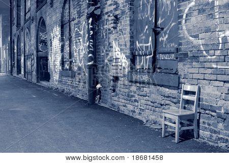 Brooklyn and a wall of graffiti, New York City