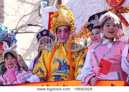 NEW YEAR CITY - FEBRUARY 21: Participants parade during Chinese Lunar New Year Parade on February 21, 2010 in New York City