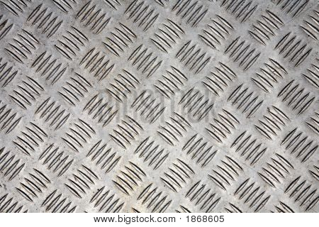 Metal Plate Floor Grip Close Up Abstract Background.