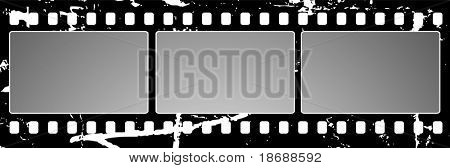 Editable  vector background - grunge film frame with space for your text or image