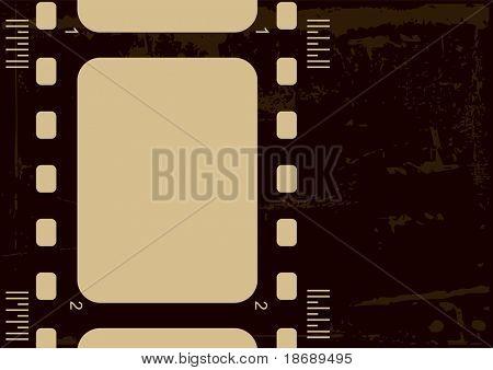 Editable vector grunge film frame
