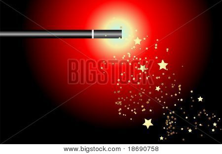 Magic wand illustration with space for your text