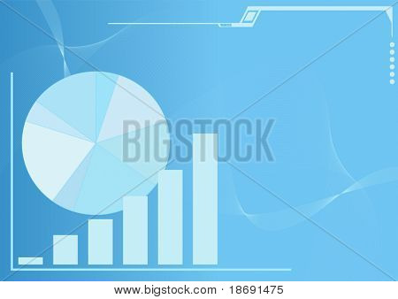 Business  background with space for your text - Graph showing growth of profits