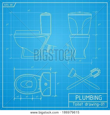 Toilet Bowl Outline. Front Side Vector & Photo | Bigstock