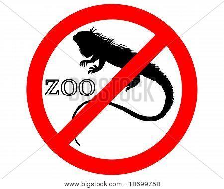 Iguana In Zoo Prohibited