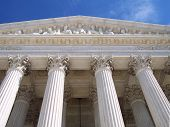 image of supreme court  - the entrance to the supreme court - JPG