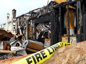 foto of mayhem  - Remains of a house fire in Virginia Beach Virginia - JPG