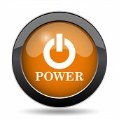 Power Button Icon poster