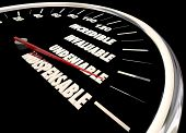 Indispensible Undeniable Praise Compliments Speedometer 3d Illustration poster