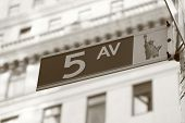 5Th Ave sign in Manhattan, New York City