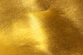 Shiny Yellow Leaf Gold Foil Texture poster