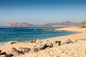 foto of cortez  - Coastline of Cabo San Lucas - JPG