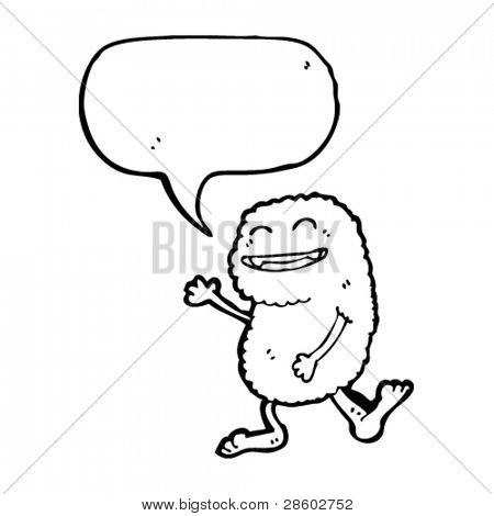 bigfoot with speech bubble