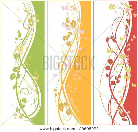 Tree floral banners