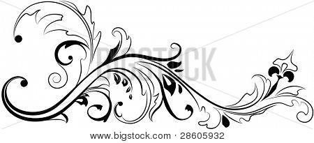 Vector floral ornament
