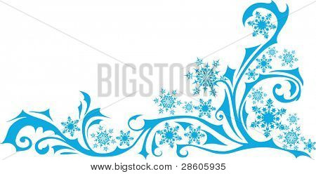 Christmas vector ornament with snowflakes