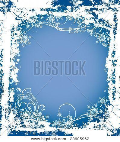 Christmas vector frame