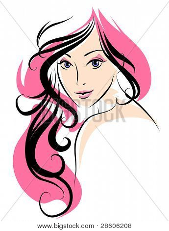 Vector illustration of a young woman