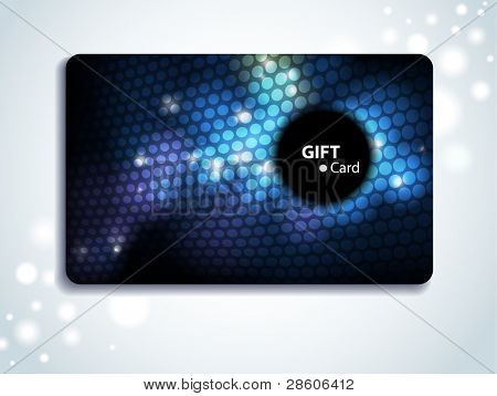 Glowing colorful gift card