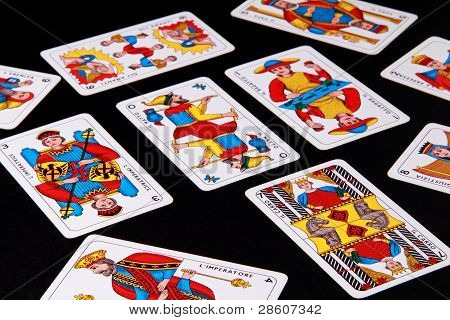 Italian tarots card