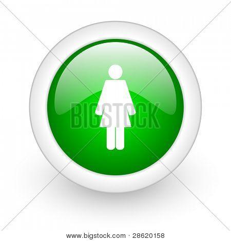 Frau Schaltfläche im web