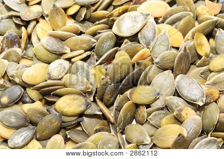 Close Up Of Pumpkin Seeds