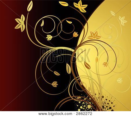 Floral  Artistic Vector  Background