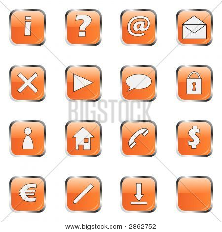 Orange Web Icon Collection