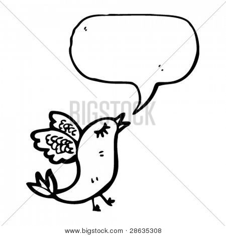 twittering bird cartoon