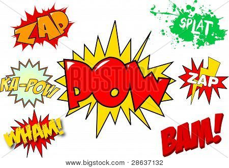 Comic/Cartoon Strip Action Words and Sayings Vectors