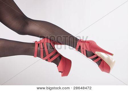 Sexy Legs in Pink Heels