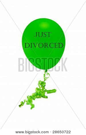 Just Divorced  Balloon Isolated On White