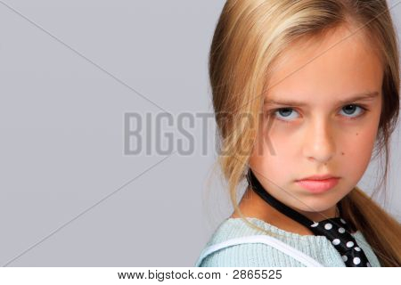 Portrait Of A Beautiful Girl With Temperament