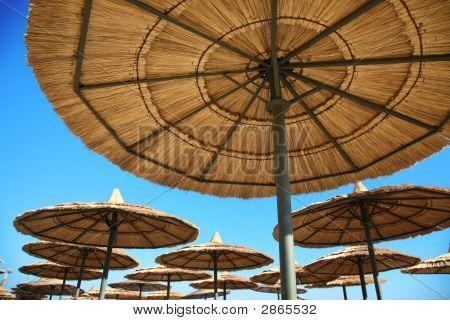 Umbrellals On Beach