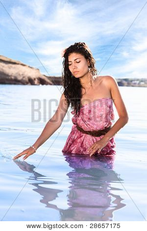 Beautiful Woman In Water