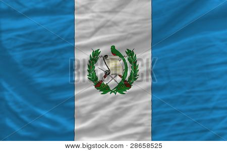 Complete Waved National Flag Of Guatemala For Background