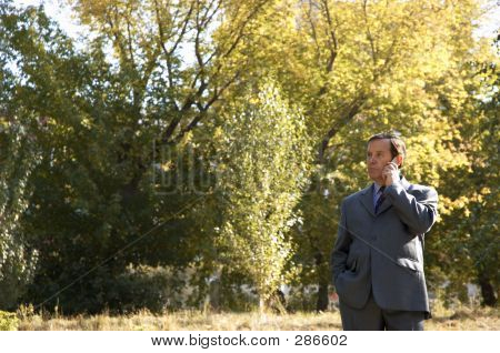 Businessman With Cell-phone